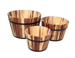 Giardino di legno di legno esterno della piantatrice del POT di fiore