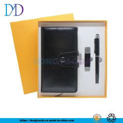 Geschäftslokal-praktische kleine Notizbuch 48K USB-Feder-Three-Piece Geschenk-eingestelltes/kundengerechtes Firmenzeichen
