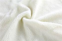 100% Polyester enkel-zijdeLam Cashmere enkele borstel enkele Shake dik 144f Lam Cashmere Sweater men' S Jacket School uniforme voering