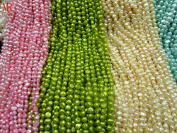 7-8mm AA NuggetマルチColor Pearl Strands
