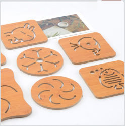 Cup를 위한 Eco-Friendly Special Shape Wooden Coaster