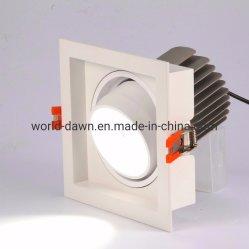 Высокий люмен утопленную квадратных светодиодный индикатор регулируемого набегающей решетки потолочного освещения
