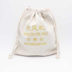 De nouveaux sacs coton personnalisés d'arrivée avec broderie logo sèche-cheveux sac