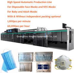 Macchina automatica ad alta velocità della maschera protezione/del respiratore/linea di produzione con capienza di 1000 PPM