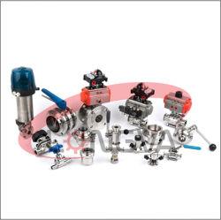 위생적인 CF8m 수동 공압 양방향 위생용 스테인리스 강철 볼 밸브