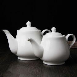 Tetera de cerámica de color blanco Regalo Promocional cafetera tetera cafetera