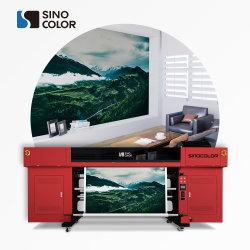 رؤوس عالية 320 سم أربع رؤوس i3200-U 72 مترًا مربعًا/ارتفاع سريع 2440 نقطة في البوصة بجودة الصور الفوتوغرافية ملصق من الفينيل PVC رقمي بلفة الأشعة فوق البنفسجية إلى أسطوانة الطابعة مع نظام الضغط السالب