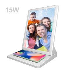 """Aiyos 2021 Nouvel ordinateur de bureau 9.7 """" écran IPS 4 : 3 joueur de la publicité l'écran LCD avec réveil intégré chargeur sans fil"""