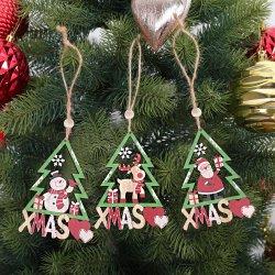 Commercio all'ingrosso 3 PEZZI decorazione di Natale ornamenti di legno di Natale