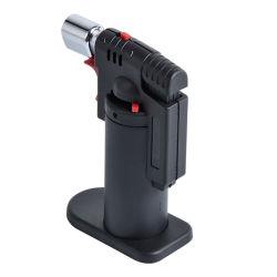 Custom Windproof recargable encendedor de cigarros encendedor soplete de gas