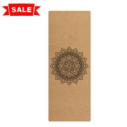 La Chine Mandala de gros de caoutchouc naturel imprimé personnalisé organiques Eco Friendly Tapis de Yoga Cork Tapis de Yoga