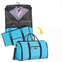 Efectuar no saco para roupa, 60L grande viajar Duffel bolsa com compartimento de calçados adequados Conversível Saco de viagem Weekender Bag para Homens Mulheres
