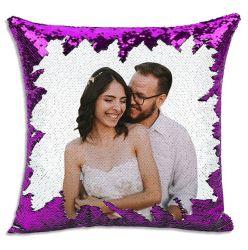 Impresión fotográfica personalizada almohada creativa bricolaje lanzar almohada cambia de color lentejuelas lanzar almohada