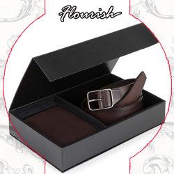 صندوق التعبئة لهدايا حزام الخصر لحزام البطاقة السوداء الكلاسيكية للرجال