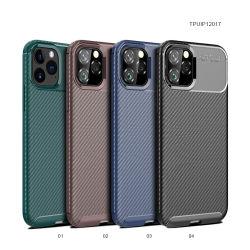 غطاء الهاتف المحمول من ألياف الكربون من ليكو iPhone 12 PRO Max