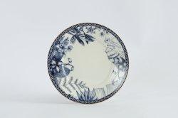 Nuova porcellana porcellana Bone Blue e White Ceramic serie con Bordo dorato