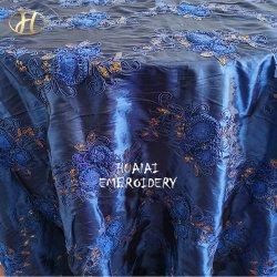 2015 вышивка цветы круглый темно-синяя конструкций из тафты таблица тканью крышку диагностического прибора Clip для свадьбы