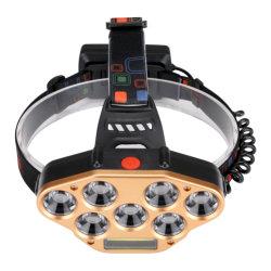 極度の明るいヘッドライトLEDの懐中電燈の額のヘッドライトのトーチの再充電可能な穂軸ヘッドランプ