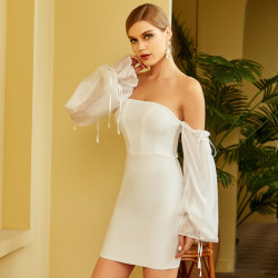 Damen Classic Night Club Party Bandage kurzer Rock mit Mesh Hülse