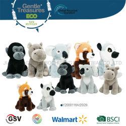 Eco 동물 Orangutan 코알라 하마 적은 판다 견면 벨벳 장난감