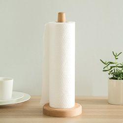 Piano di appoggio per porta asciugamani in carta Bamboo ecologico, porta asciugamani in carta con supporto da cucina e dispenser