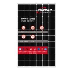 Sunpro питания 5BB 320 Вт моно 60 ячеек солнечная панель для солнечной системы, проект использования солнечной энергии, солнечных генераторов
