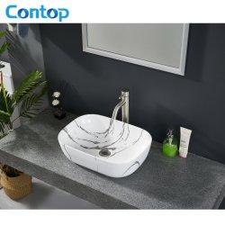 Marmo colore vetrata ceramica piano lavabo in arte quadrato Ciotola