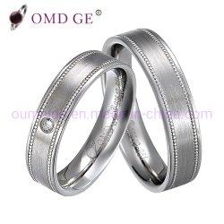 Cordão CNC Zircónia Cúbicos Single CZ Diamond Anéis de prata esterlina