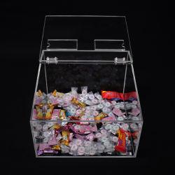 Dispensador de caramelos de acrílico de contenedores de almacenamiento Caja con tapa