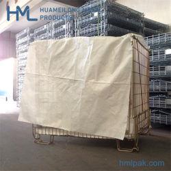 Soldado durável da cesta de malha de arame galvanizado para armazenamento de preformas PET