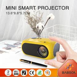 2020 LED جهاز العرض منزل Smart Video Player دعم 1080p 2200 جهاز عرض LCD لومن LCD للهاتف المحمول WiFi