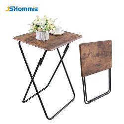 Metall Holz Fabrik Großhandel TV-Tabletts Set von 2 Falten TV-Tische Snacktische zum Essen