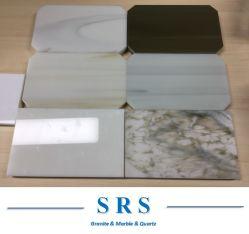 أبيض/كالاكاتا عرق/أصفر/أزرق نانو حجر زجاجي بلورت للأرضية، حمام حائط خلفية، سطح طاولة مطبخ، أقسام، طاولة شاي، التصميم