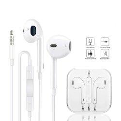 Apple 5s 6sのiPhone 6のための熱い販売の3.5mmのイヤホーンによってワイヤーで縛られるヘッドセットの完全な元の製品