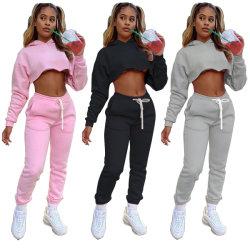 무료 배송 여성용 트랙수트 후디 스웨트셔츠 팬츠 세트 스포츠 캐주얼 정장 스웨트 셔츠 여성용 트랙 슈트를 착용하십시오