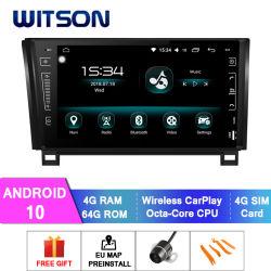 Android Witson 10 aluguer de DVD de navegação GPS para Toyota Tundra 2007-2013 (2007-2013) 2008-2015 Sequoia 4 GB de RAM 64GB Flash Grande Ecrã