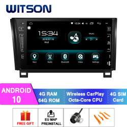 Witson Android 10 DVD системы навигации GPS для Toyota 2007-2013 тундре (2007-2013) 2008-2015 Секвойя 4 ГБ оперативной памяти 64Гб флэш-памяти большой экран