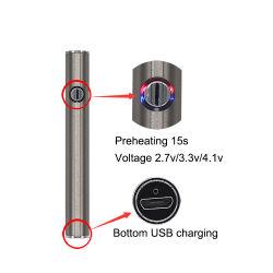 EGO 510 Vaporizador rosca ajustable batería con una tensión variable 350mAh inferior de carga de precalentamiento Vape