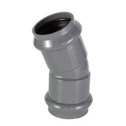 315mm PN10 Anillo de goma PVC 22,5 grados el codo común