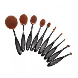 23837 Комплект из 10 косметичней для косметики Belsion Professional Quality Soft И плотные синтетические волосы черная ручка Blending Tool