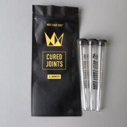 Kunststoff-Verpackungsröhrchen Pre-Roll Preroll Gehärtet Joint Packaging Bag 3 Joints 1 Jonit Neueste West Coast Cure Preroll Rohre