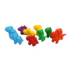 プラスチック3D恐竜のクレヨンの子供の引くことのためのかわいい形のクレヨン