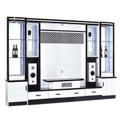 Beste Preis Luxux-Fernsehapparat-Zahnstange moderner Fernsehapparat-Tisch für Wohnzimmer-Möbel