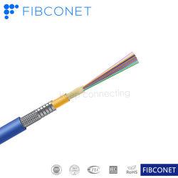 La distribución interior espiral blindados doble antena de cable óptico/Cable de comunicación de fibra óptica (GJSFJV)