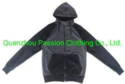 Hoody der Männer die Umhüllungen-Großverkauf-Schweiss-Klagen, die Klage-Sport rütteln, tragen schwarzen Spur-Anzug