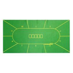 1.2*0,6 m tapis de poker Texas Hold'em Poker Table en caoutchouc en daim Cloth Top jeu de casino d'impression numérique accessoire de Poker