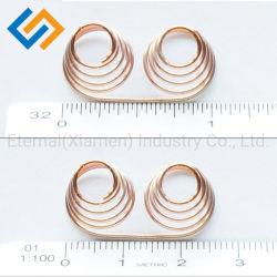 El rollo de alambre pequeños de precisión cónicos helicoidales Contactor de la batería plana 304 de la primavera de la abrazadera de pagoda