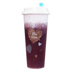 Одноразовые пластиковые высокого качества льда 500 мл чашки кофе молока для приготовления чая и фруктовый сок напиток сосуд с крышкой