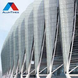 Exterior de la nueva fachada muro cortina de aluminio Panel Compuesto de Aluminio Aluminio planas Panel de chapa