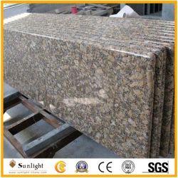 Superfície sólida Bullnose completo Giallo Fiorito Bancada de cozinha de granito